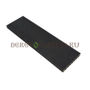 Террасная доска (150*23,5*4000) пустотелая, шовная, Резина