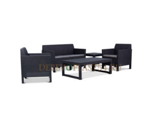 Orlando set + Lyon wicker table
